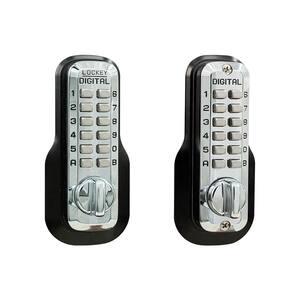 M210 Double Combination Bright Chrome Keyless Single Cylinder Deadbolt Lock
