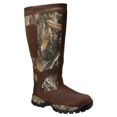 Men's 18 in. Snake Bite Camo Hunting Boots - Brown Size 13 (W)