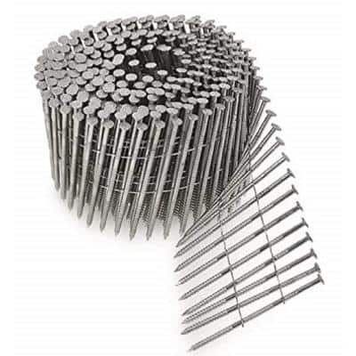 8d 2-1/2 in. 15 Wire Coil Full Round Head Ring-Shank Collated Decking/Framing Nail (3,600-Pack)