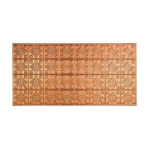 Traditional #1 2 ft. x 4 ft. Glue Up Vinyl Ceiling Tile in Polished Copper (40 sq. ft.)