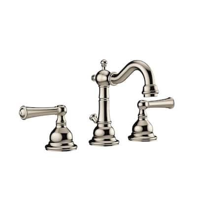 BARREA 8 in. Widespread 2-Handle Bathroom Faucet in Polished Nickel