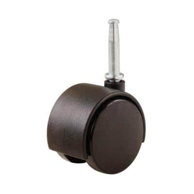 2 in. Plastic Twin Wheel Swivel Stem Casters with 75 lb. Load Rating (2 per Pack)
