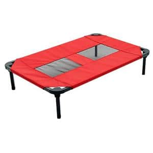 Small/Medium 30 in. Red Elevated Pet Bed Comfort Cot
