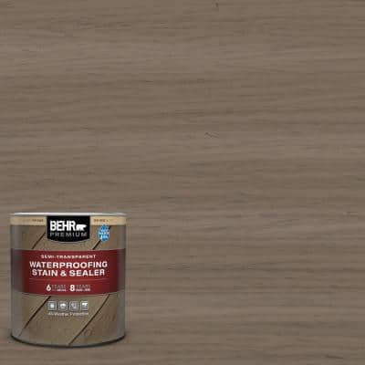 1 qt. #ST-159 Boot Hill Grey Semi-Transparent Waterproofing Exterior Wood Stain and Sealer