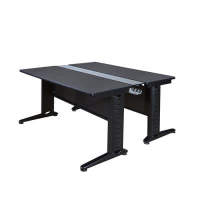 72 in. x 58 in. Fusion Grey Benching Station