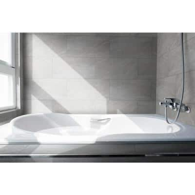 12x24 Bathroom Gray Tile Flooring The Home Depot