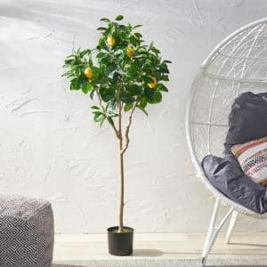 Dundas 5 ft. Green Artificial Lemon Tree