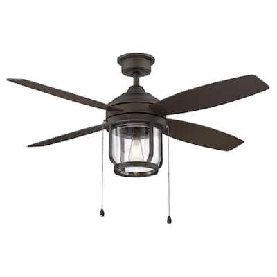 Northampton 52 in. LED Indoor/Outdoor Espresso Bronze Ceiling Fan with Light