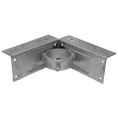 2-3/8 in. Galvanized Steel Corner Wood Adapter