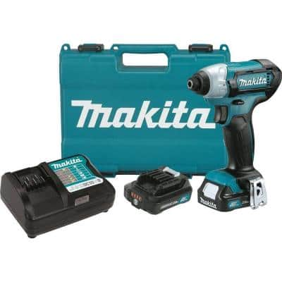 12-Volt MAX CXT Lithium-Ion 1/4 in. Cordless Impact Driver Kit with (2) Batteries 2.0Ah, Charger, Hard Case