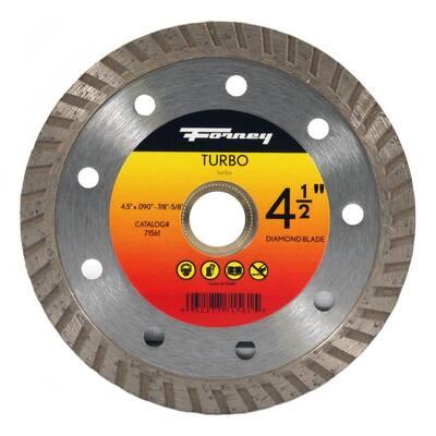 4-1/2 in. Turbo Continuous Rim Diamond Cut-Off Blade