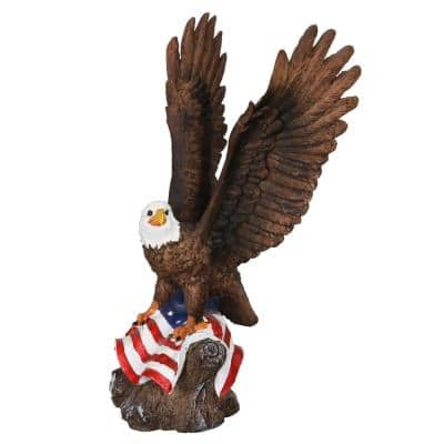 Eagle on USA Flag Statue