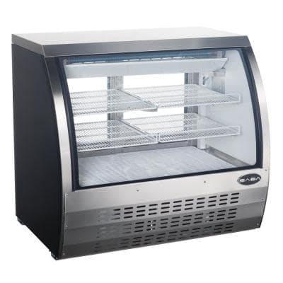 47.25 in. W 18 cu. ft. Commercial Refrigerator Deli Case, Display Case Glass/Stainless Steel