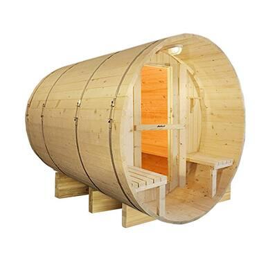 8-Person Pine Electric Heater Sauna