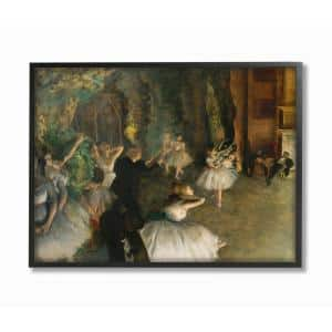 16 in. x 20 in. ''Degas The Rehearsal of the Ballet Onstage Classical Painting'' by Edgar Degas Framed Wall Art