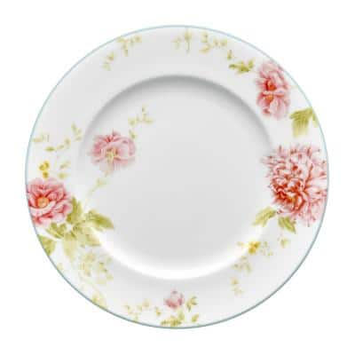 Peony Pageant White Bone China Salad Plate 8-1/4 in.