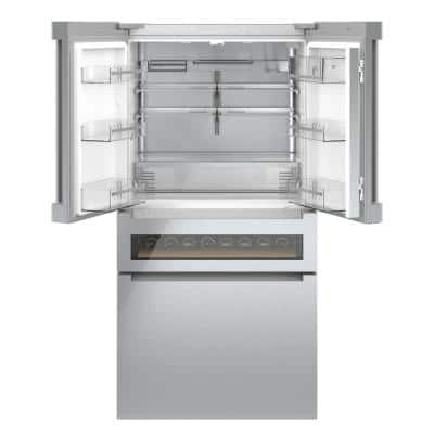 800 Series 36 in. 21 cu. ft. French Door Refrigerator in Stainless Steel with Refreshment Center, Counter Depth