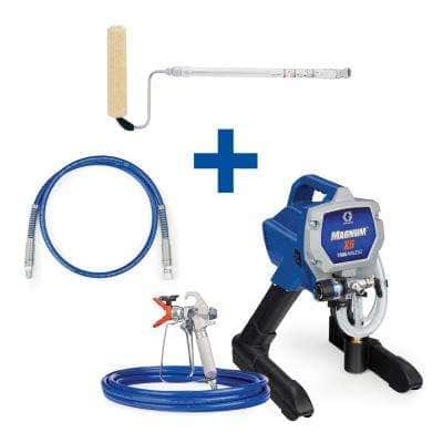 Magnum X5 Stand Airless Paint Sprayer with 4 ft. Whip Hose and Pressure Roller Kit