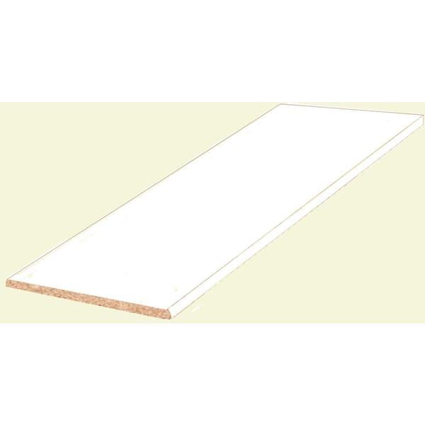 White Melamine Wood Shelf 14 In D X 72 In L 1605116 The Home Depot