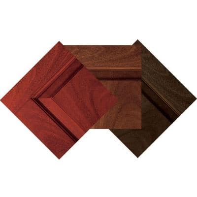 Fiberglass Mahogany Woodgrain Stain Sample (3-Pack)
