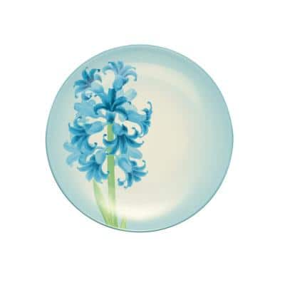 Colorwave Turquoise Stoneware Hyacinth Accent Plate 8-1/4 in.