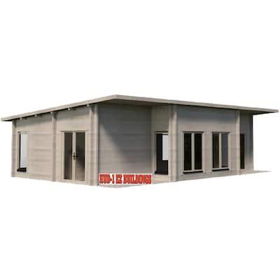 Norse 20 ft. x 32 ft. Log Cabin Pool Garden House D.I.Y. Building Kit