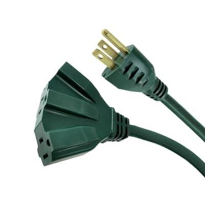 25 ft. 16/3 Fan-Tap Landscape Extension Cord, Green
