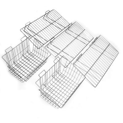 Slatwall Shelf and Basket Kit (5-Piece)