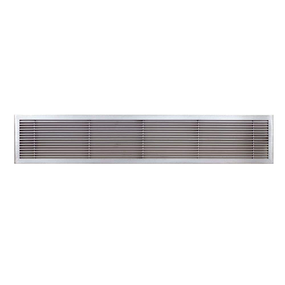 Architectural Grille Ag10 Series 4 In X 8 In Solid Aluminum Fixed Bar Supply Return Air Vent Grille Brushed Satin 100040801 The Home Depot