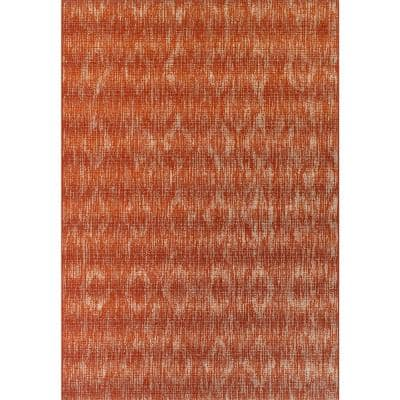Tucson 6 Solid Chevron Paprika 5 ft. 1 in. x 7 ft. Area Rug