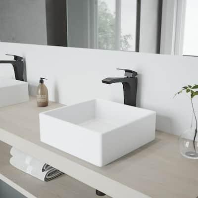 Blackstonian Single-Handle Vessel Sink Faucet in Matte Black