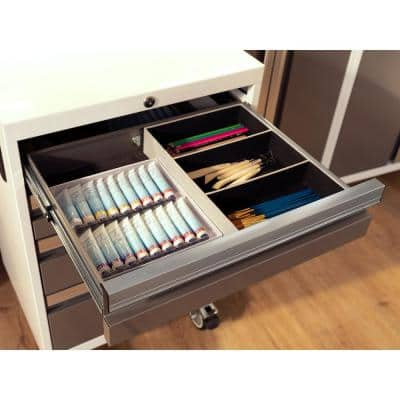 Bold Series 21 in. W x 33 in. H x 16 in. D 24-Gauge Welded Steel Mobile Tool Drawer Cabinet in Platinum
