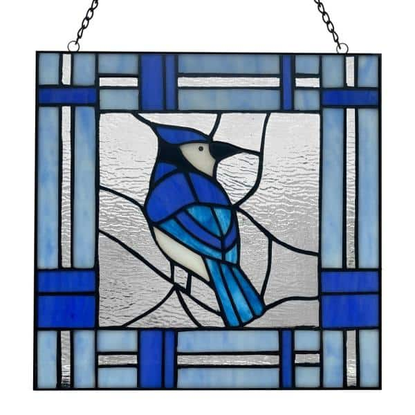 River Of Goods Blue Jay Stained Glass, Stained Glass Pictures