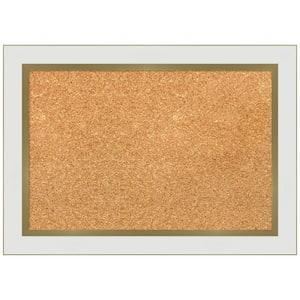 Eva White Gold 21.12 in. x 15.12 in Narrow Framed Corkboard Memo Board