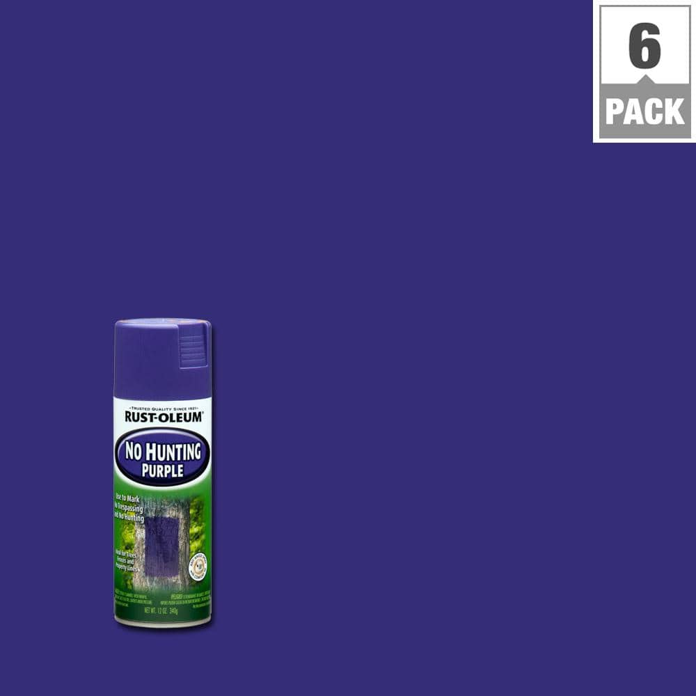 Rust-Oleum Specialty 12 oz. No Hunting Purple Spray Paint (6-Pack)