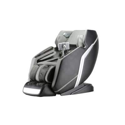 Deluxe Black and Gray Zero Gravity Massage Chair with Heat and Massage