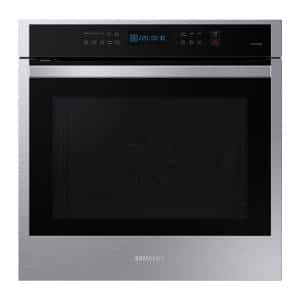 24 in. 3.1 cu. ft. Single Built-in Wall Oven with True Convection in Stainless Steel