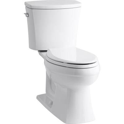 Kelston Comfort Height 2-Piece 1.28 GPF Single Flush Elongated Toilet with AquaPiston Flushing Technology in White