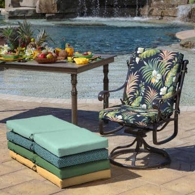 20 in. x 24 in. Simone Tropical Outdoor Chair Cushion