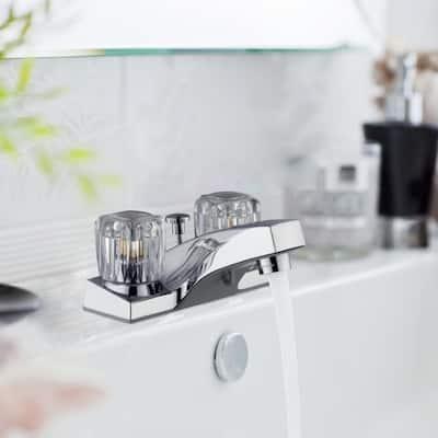 Millbridge 4 in. Centerset 2-Handle Bathroom Faucet in Polished Chrome