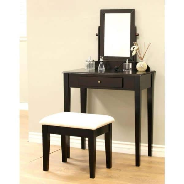 Homecraft Furniture 3 Piece Expresso, Espresso Wood Vanity Set