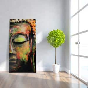 ''Buddha'' Frameless Free Floating Tempered Art Glass by EAD Art Coop Wall Art