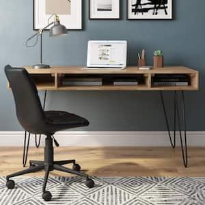 Hunter Solid Mango Wood Industrial 60 in. Wide Desk in Natural
