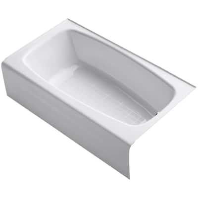 Seaforth 54 in. Right-Hand Drain Rectangular Alcove Bathtub in White