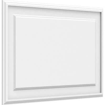 5/8 in. x 2-1/2 ft. x 1-1/2 ft. Legacy Raised Panel White PVC Decorative Wall Panel