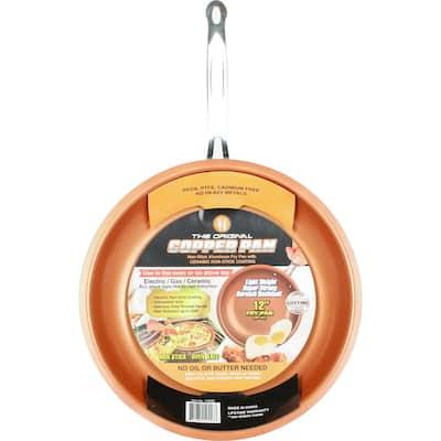 Original Copper Pan 12 in. Aluminum Nonstick Frying Pan in Copper