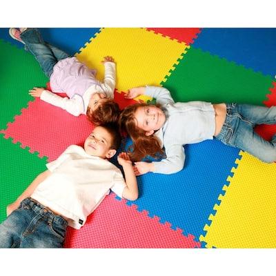 Multicolor 24 in. x 24 in. EVA Foam Solid Color Multi-Purpose Interlocking Tile (16-Tile)
