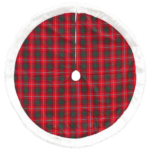 New Gingham Christmas Tree Skirt