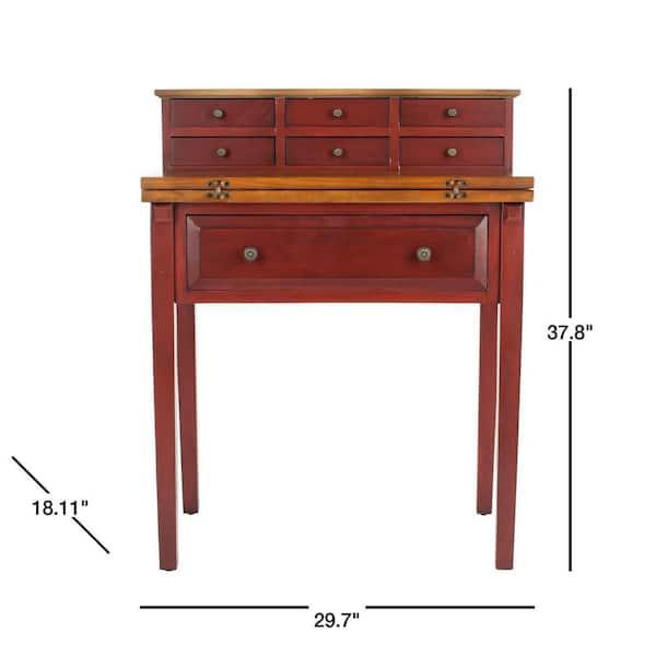 Safavieh 30 In Rectangular Egyptian, Red Oak Desk