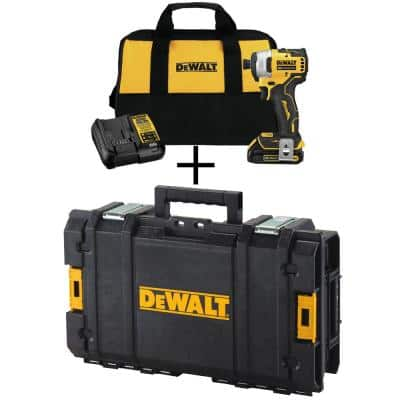 ATOMIC 20-Volt MAX Cordless Brushless Compact 1/4 in. Impact Driver with Toughsystem Case